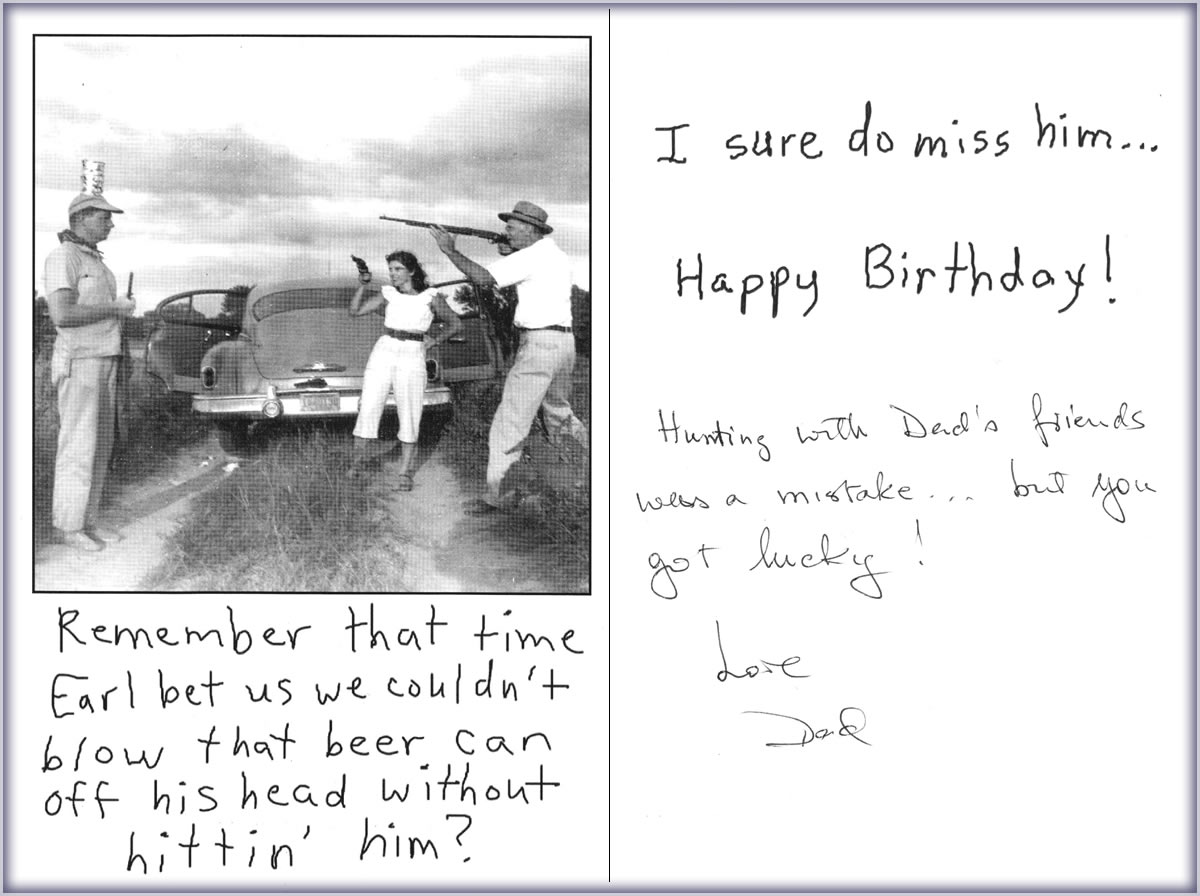 stop me if you've heard this one already hunting with dad., Birthday card